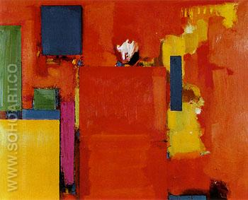 The Golden Wall 1961 - Hans Hofmann reproduction oil painting