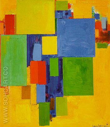 Auxerre France St Etiennes Glorious Light 1960 - Hans Hofmann reproduction oil painting