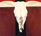 Georgia O'Keeffe Cow's  Skull on Red