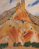 Georgia O'Keeffe The Cliff Chimneys 1938