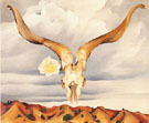 Georgia O'Keeffe Rams Head White Hollyhock Hills1935