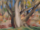 Georgia O'Keeffe Trees at Glorieta New Mexico 1929