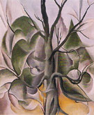 Georgia O'Keeffe Gray Tree Lake George 1925