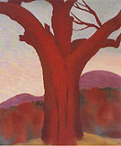 Georgia O'Keeffe Chestnut Red 1924