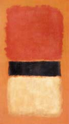 Mark Rothko Black Stripe Orange Gold Black 1957