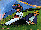 Jawlensky and Werefkin 1909 - Gabriele Munter