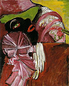 Black Mask With Pink 1912 - Gabriele Munter
