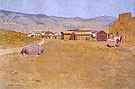 A Mining Town Wyoming 1899 - Frederic Remington