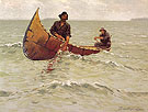 Hauling the Gill Net 1905 - Frederic Remington