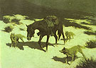 The Last March 1906 - Frederic Remington reproduction oil painting