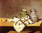Paul Cezanne Green Pot Tin Kettle 1869