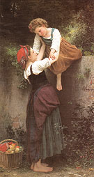 William-Adolphe Bouguereau Little Marauders 1872