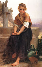 William-Adolphe Bouguereau The Broken Pitcher 1891