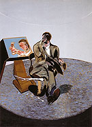Francis Bacon study of George Dyer in a Mirror 1968