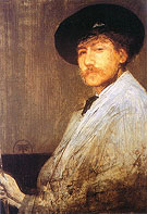 James McNeill Whistler Arrangment in Gray Portrait of the Painter