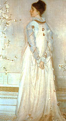 Symphony in Flesh Color and Pink Portrait of Mrs Frances Leyland 1873 - James McNeill Whistler reproduction oil painting