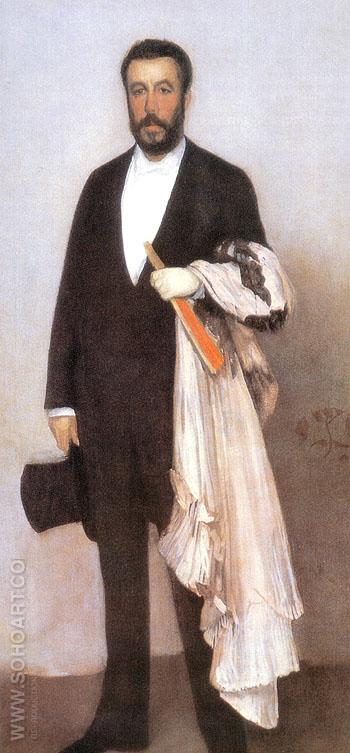 Arrangement in Flesh color and Black Portrait of Theodore 1882 - James McNeill Whistler reproduction oil painting