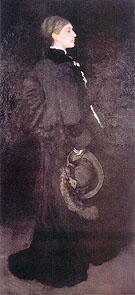 Arrangement in Brown and in Black Portrait of miss Rosa Corder 1875 - James McNeill Whistler