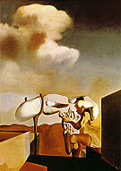 Salvador Dali Average Atmospherocephalic Bureaucrat in the Act Milking a Cranial Harp 1933