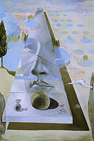 Salvador Dali Apparation of the Face of the Aphrodite of Knidos in a Landscape Setting 1981