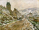 Claude Monet Road to Vetheuil Winter 1879