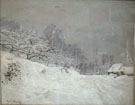 Claude Monet Near Honfleur Snow