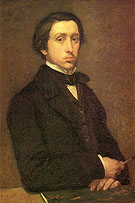 Edgar Degas self-portrait 1854