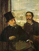 Edgar Degas The Artist and His Friend Evariste de Valernes 1865