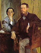 Edgar Degas Edmondo and Therese Morbilli 1865