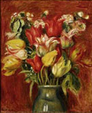 Bouquet of Tulips - Pierre Auguste Renoir reproduction oil painting