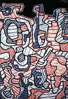 Jean Dubuffet Device for Dishes 1965