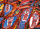 Jean Dubuffet Site with 4 Characters 1981