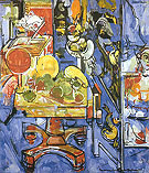Hans Hofmann Still Life Table With Vases and Cupboard 1935