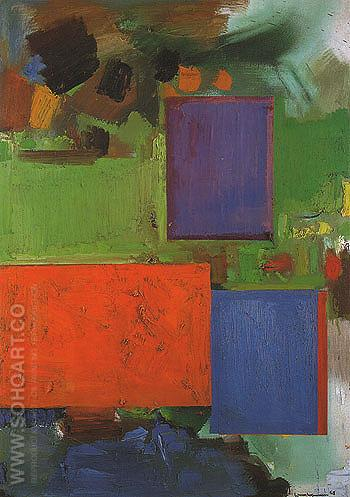 Rhapsody 1965 - Hans Hofmann reproduction oil painting