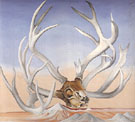 Georgia O'Keeffe Form the Faraway Nearby Deers Horns Near Cameron 1937