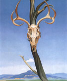 Georgia O'Keeffe Deer Skull With Pedernal 1936