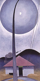 Georgia O'Keeffe Flagpole Little House Moonring Lake George 1925