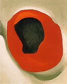 Georgia O'Keeffe Untitled Allligator Pear in red Dish 1923