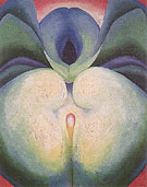 Georgia O'Keeffe Series I White Blue Flower Shapes 1919
