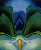 Georgia O'Keeffe Blue Flower 1918