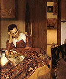Girl Asleep at a Table 1657 - Johannes Vermeer