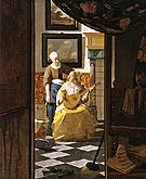 The Love Letter 1667 - Johannes Vermeer
