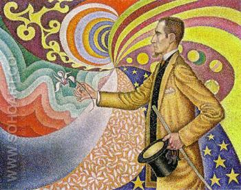 Portrait of Felix Feneon, Opus 217 Against the Enamel of a Background - Paul Signac reproduction oil painting