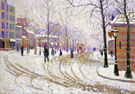 Snow Boulecard de Clichy Paris 1886 - Paul Signac reproduction oil painting