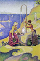 Women at the Well Opus 238 1892 - Paul Signac reproduction oil painting