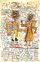 Jean-Michel-Basquiat Self Portrait with Suzanne 1982