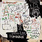 Jean-Michel-Basquiat Future Sciences Versus the Man 1982