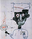 Jean-Michel-Basquiat Eyes and Eggs 1983
