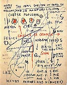 Jean-Michel-Basquiat Untitled Cheese Popcorn 1983