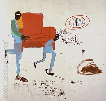 Light Blue Movers 1987 - Jean-Michel-Basquiat reproduction oil painting
